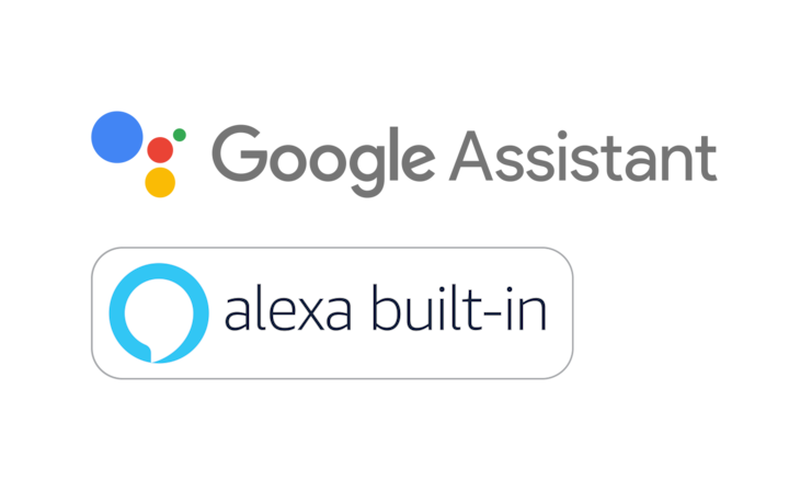 Google Assistant und Alexa Built-in Logos