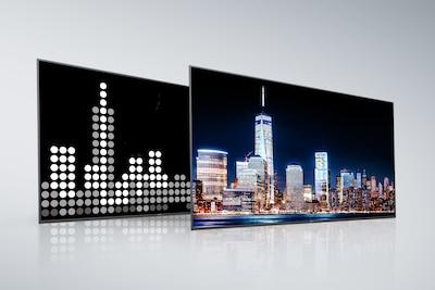 Full Array LED von Sony mit X-tended Dynamic Range PRO – Rückseite und Bildschirm