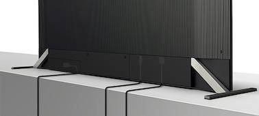 Fernseherrückseite mit Kabelmanagement