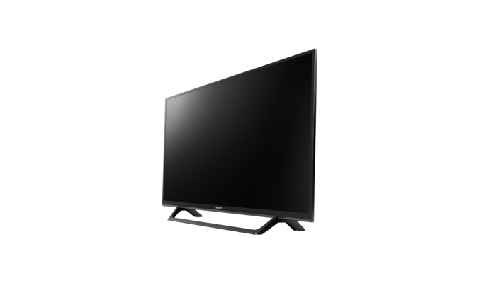 kdl32we615baep 80 cm 32 motionflow xr 200 hz schwarzer rahmen standfu mit silberner u. Black Bedroom Furniture Sets. Home Design Ideas