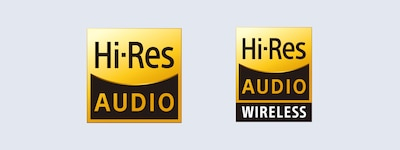 High-Resolution Audio und High-Resolution Audio Wireless Logos