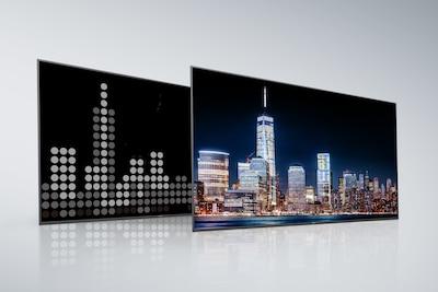 Herkömmlicher Full Array LED-Fernseher – Rückseite und Bildschirm