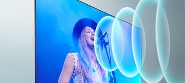 Bild eines Sängers auf einem Konzert