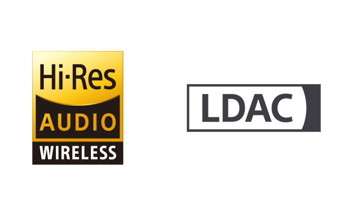 Logos für drahtloses High-Resolution Audio und LDAC
