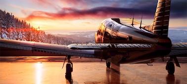 Bild eines Flugzeugs mit HDR-Details