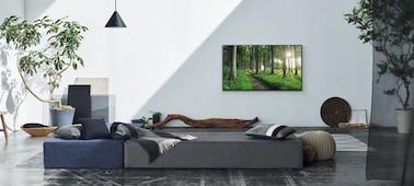 Bild einer Wohnzimmerszene, die das Living Decor-Konzept zeigt