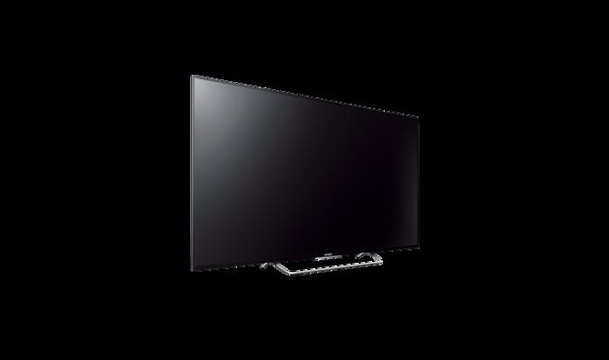 kdl55w805cbaep 139 cm 55 motionflow 800 schwarzer rahmen standfu aus silbernem gl nzendem. Black Bedroom Furniture Sets. Home Design Ideas