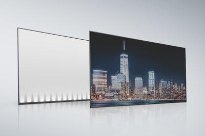 Edge LCD – Rückseite und Bildschirm