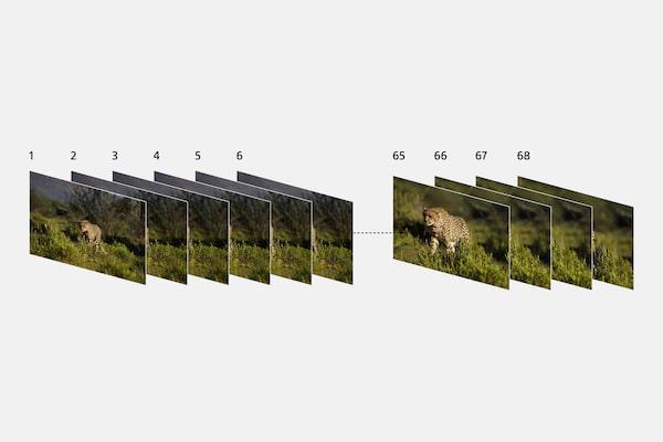 Bis zu 68 Bilder mit der Serienaufnahmefunktion
