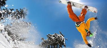 Abbildung: Snowboarder mit gestochen scharfem Detail mit LED XR X-Motion Clarity™