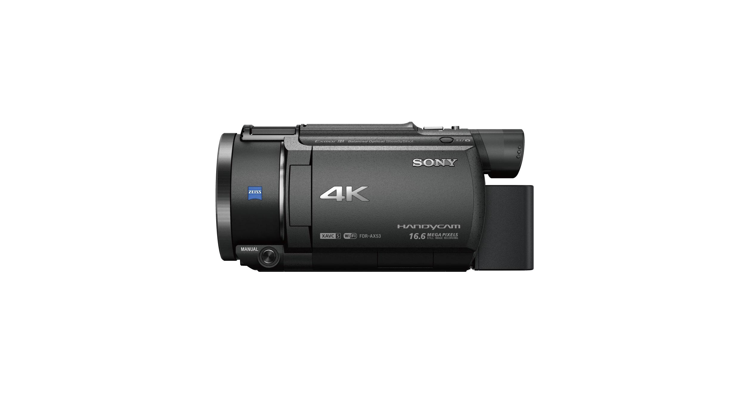 4k Weitwinkel Camcorder Mit Nachtsicht Ax53 Sony De