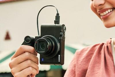 Vertikale Videoaufnahmen mit Metadaten für das Smartphone