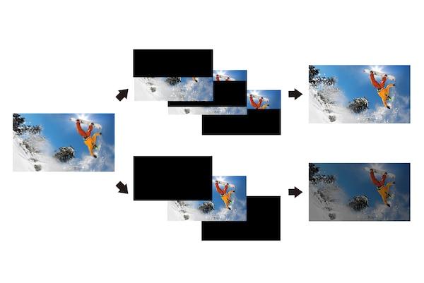 Detail einer actionreichen Szene mit X-Motion Clarity