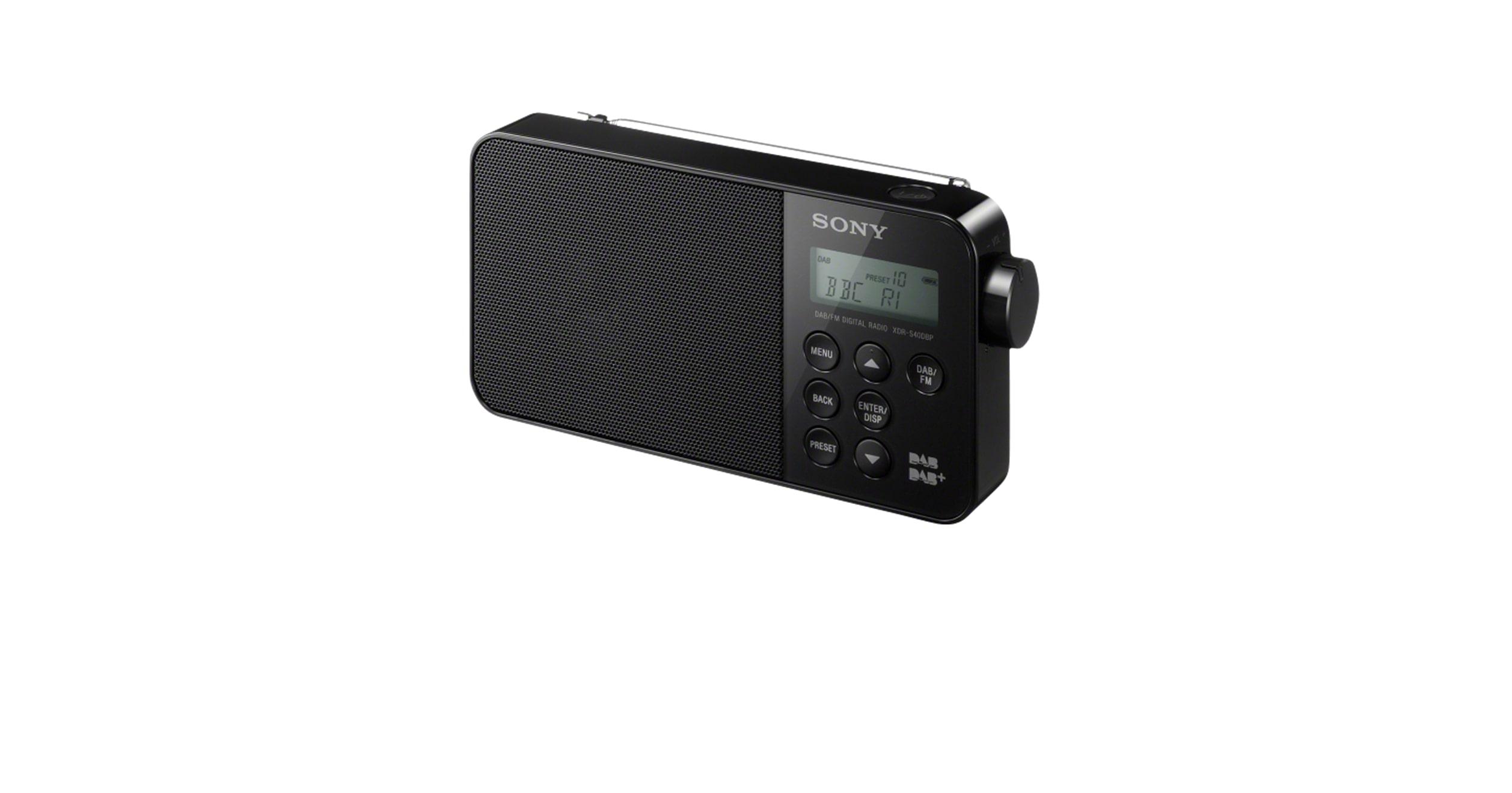 tragbares digitales dab radio xdr s40dbp sony de. Black Bedroom Furniture Sets. Home Design Ideas